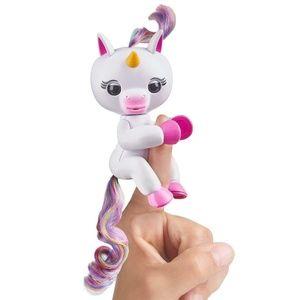 WowWee Fingerlings Baby Unicorn Gigi White Rainbow